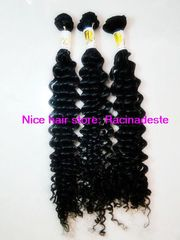 AAA curly wave brazilian virgin hair